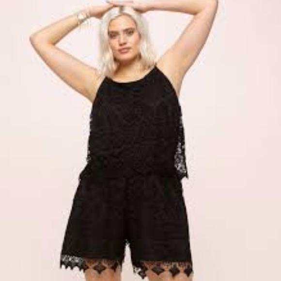 99a8658cc8aa Plus Size Black lace Romper. Boutique. Loralette